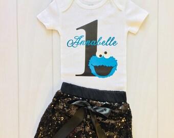 Cookie Monster | First Birthday | Boys First Birthday | Girl 1st Birthday | Sesame Street