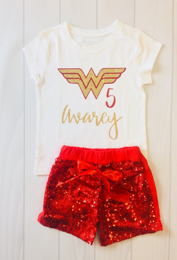Girls Wonder Woman Birthday Shirt Custom