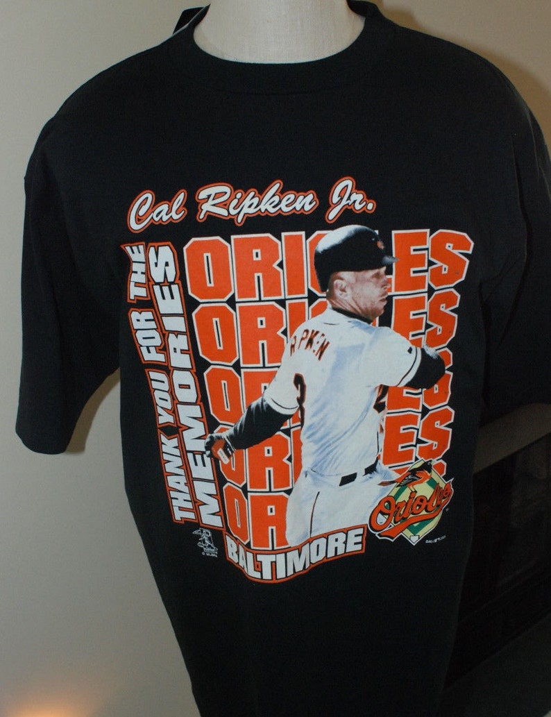 309440cc6d3 Vintage Cal Ripken Jr. Shirt Thanks For The Memories TRUE FAN