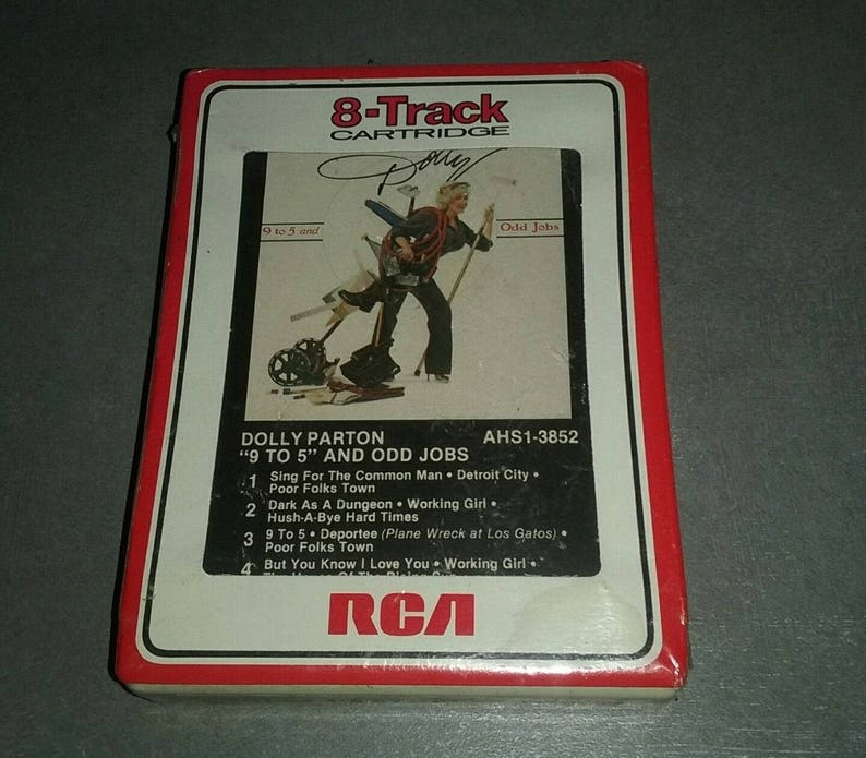 Rare 1980 RCA Dolly Parton 9 To 5 And Odd Jobs 8 Track Sealed New