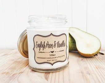 Pear Vanilla Soy Candle, Soy Candles, Pear Soy Candle, Vanilla Soy Candle, Scented Candle, Housewarming Gift, Baby Shower Gift