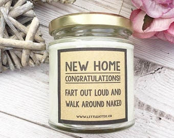 New Home Gift, Funny Housewarming Gift Ideas, Scented Soy Candle, Funny Sister Gift, Soy Wax Candles