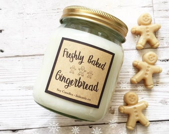 Gingerbread Candle, Christmas Scented Candle, Soy Wax Candles, Autumn Scented Soy Candle, Christmas Gifts, Large Jar Candle