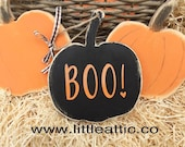 Halloween Decor, Rustic Pumpkin Decor, Halloween Party Decoration, Rustic Wooden Sign, Wooden Pumpkin Decor