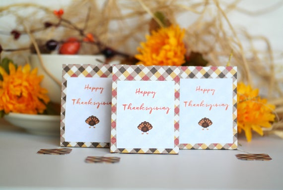 Thanksgiving Dinner Tea Party Favors