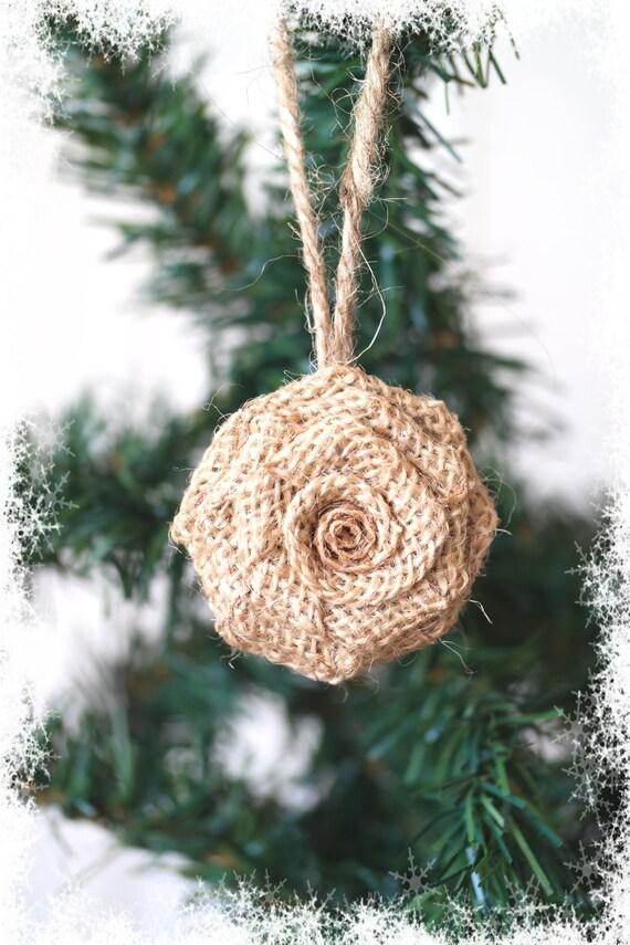 Natural Christmas Tree Decorations.Christmas Tree Hanging Burlap Flower Ornament Natural Christmas Tree Decoration Flower Christmas Tree Embellishment