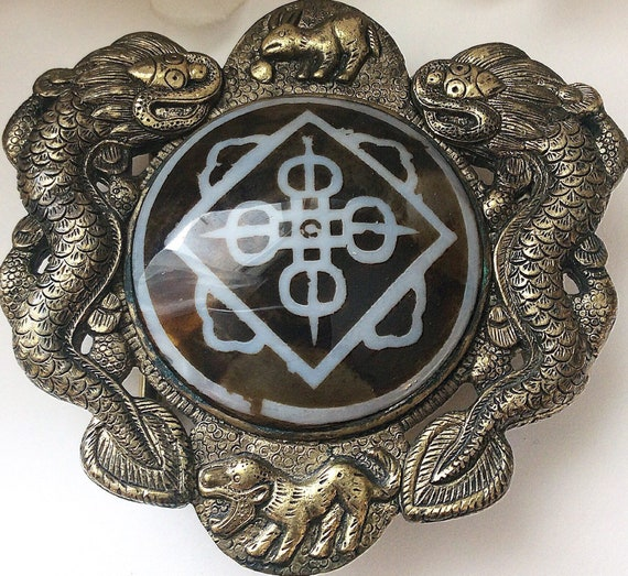 Asian  Belt Buckle, Statement Belt Buckle, Agate B