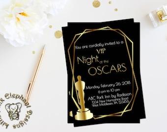 oscar party invitation academy awards invites oscar party rsvp etsy