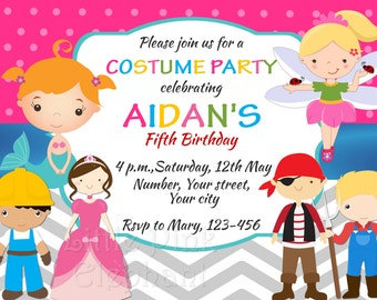 Costume party invite Etsy