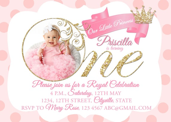 Royal Princess Invitation Birthday Invite