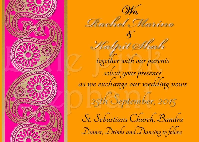 Bollywood Invitations Bollywood Party Invites Mehndi Party Etsy