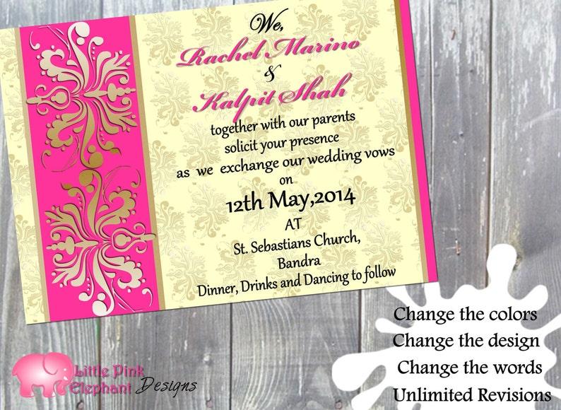97c3adad8a9f Bollywood invitation Indian invitations Hindu wedding