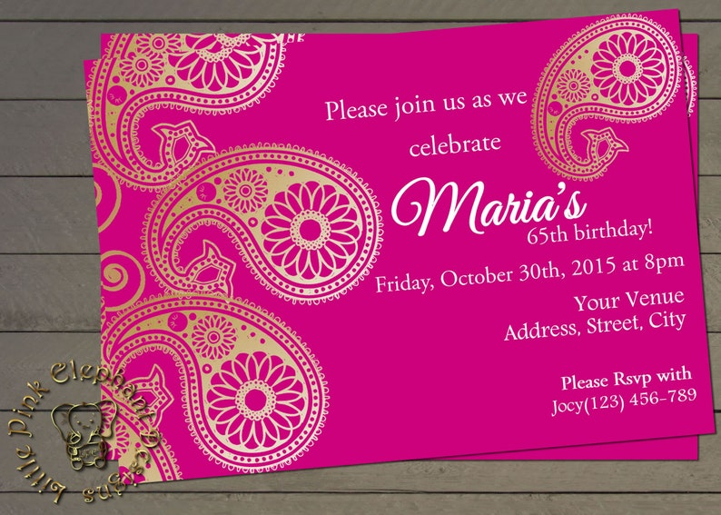 Indian Invitation Instant Download Bollywood Party Invite Mehndi