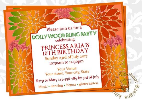 Dholki Invitation Mehndi Invitation Mehendi Party Indian Etsy