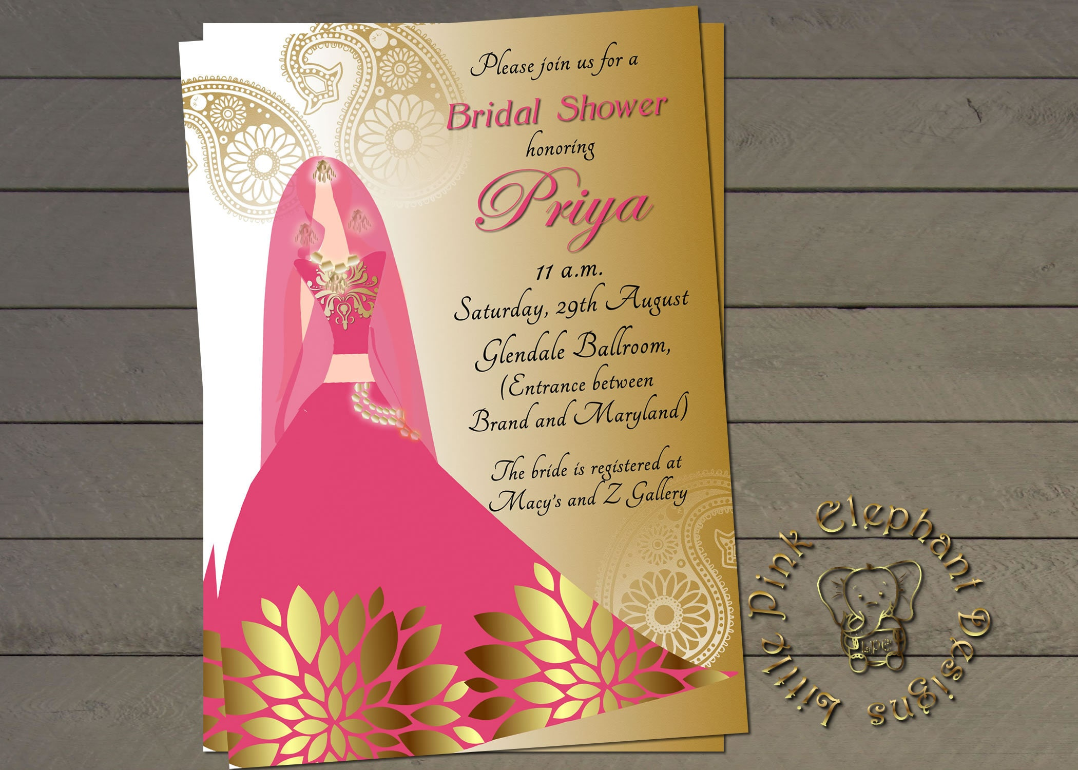 Free Online Indian Wedding Invitation Website: Indian Bridal Shower Invitation Bollywood Invites Indian