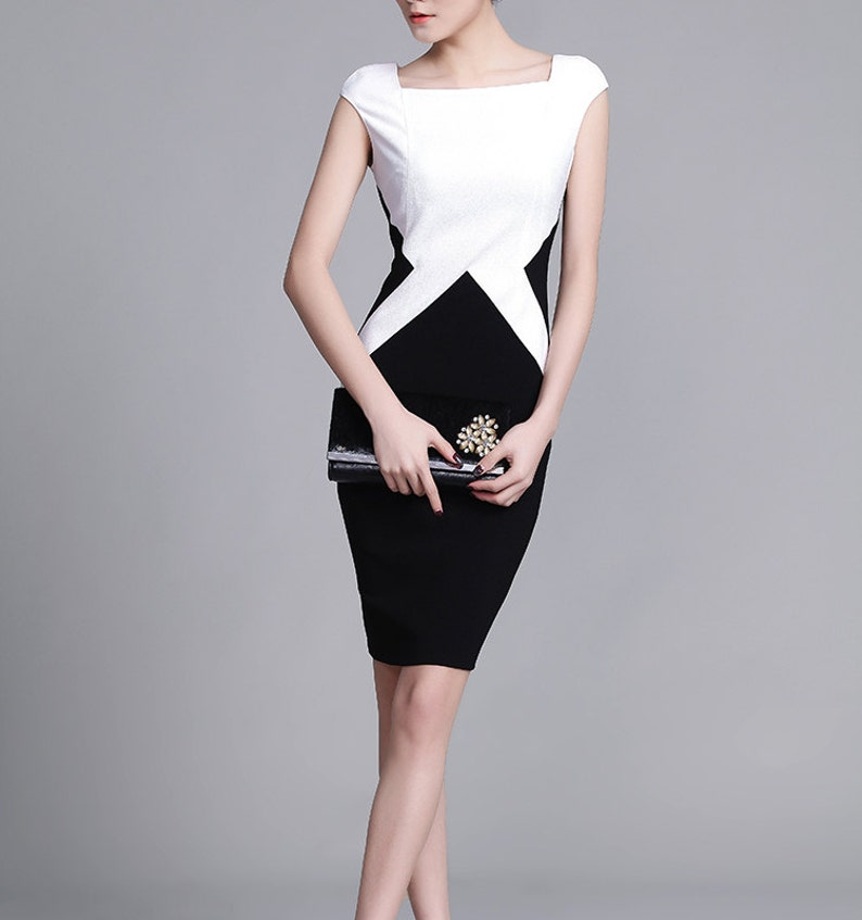 663c0b9aa71 Smart   Casual Dress Womens office wear black and white