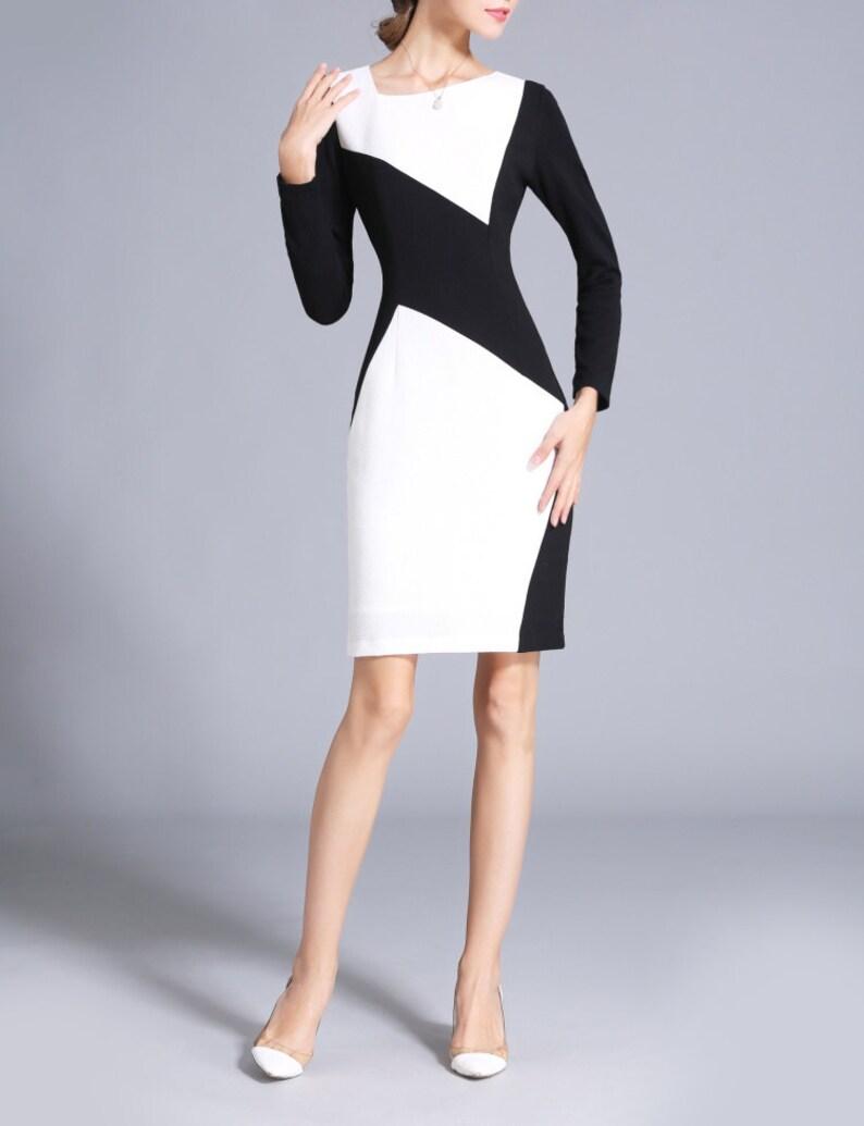 Vestido negro con blanco outfit