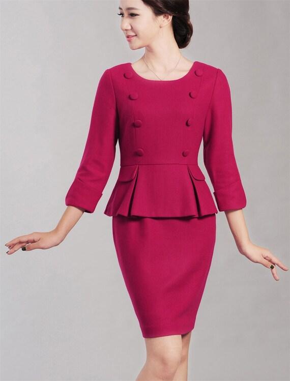 8bf7063ee48 Rose Pink Vintage Dress Mother of the Bride Dress Plus Size