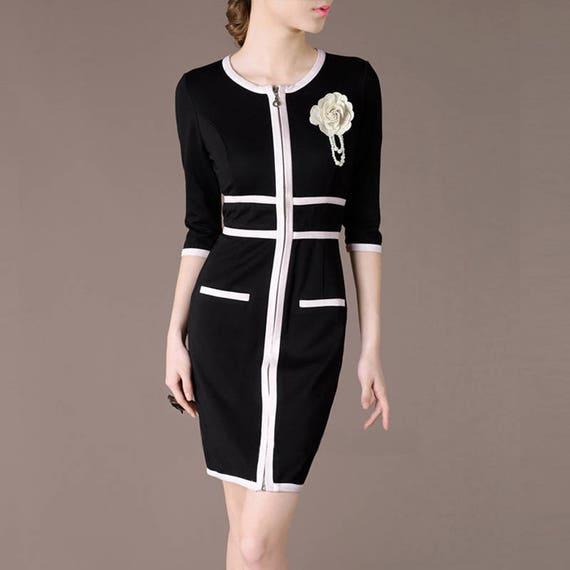Moda vestidos en blanco y negro
