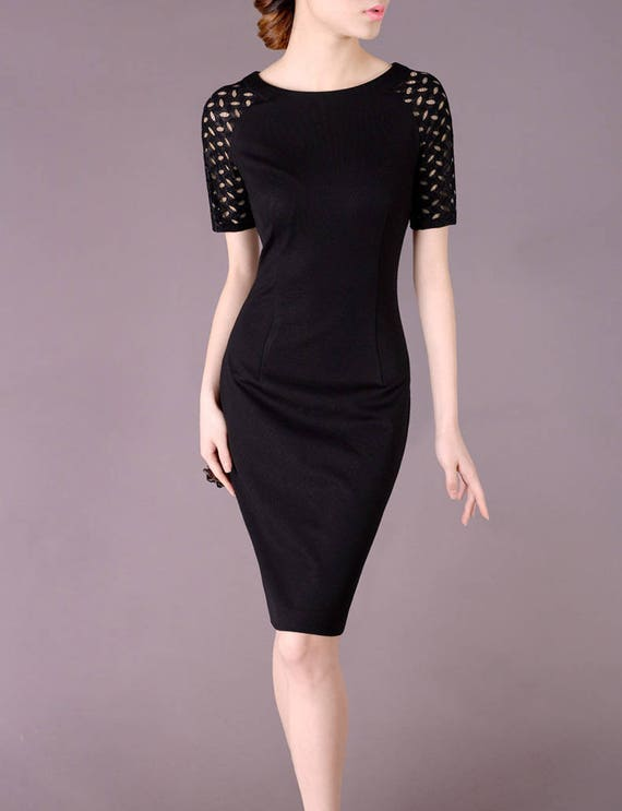 Womens Plus Size Clothing Made To Measure Black Dress Etsy