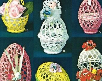7 Easter Egg Crochet Patterns PDF Instant Download ePattern
