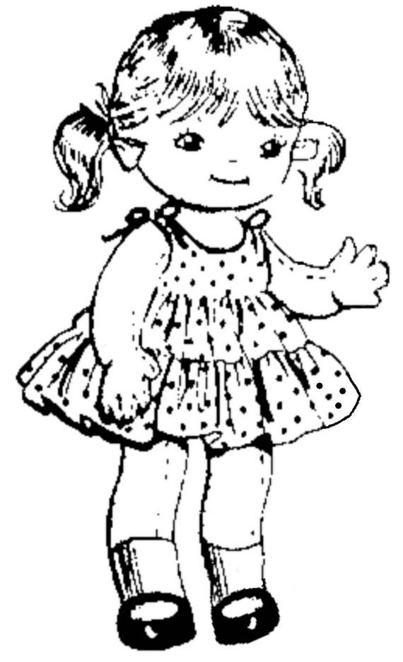 Vintage Doll Pattern Doll Clothes Pattern Digital Download
