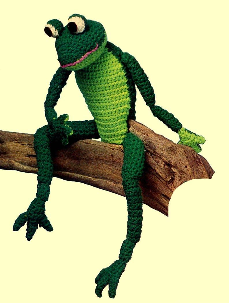 Vintage Frog, Crochet Pattern, Stuffed Frog, Toy Pattern, Princely Frog,  Vintage Crochet, Vintage Pattern, PDF Pattern, Digital Download
