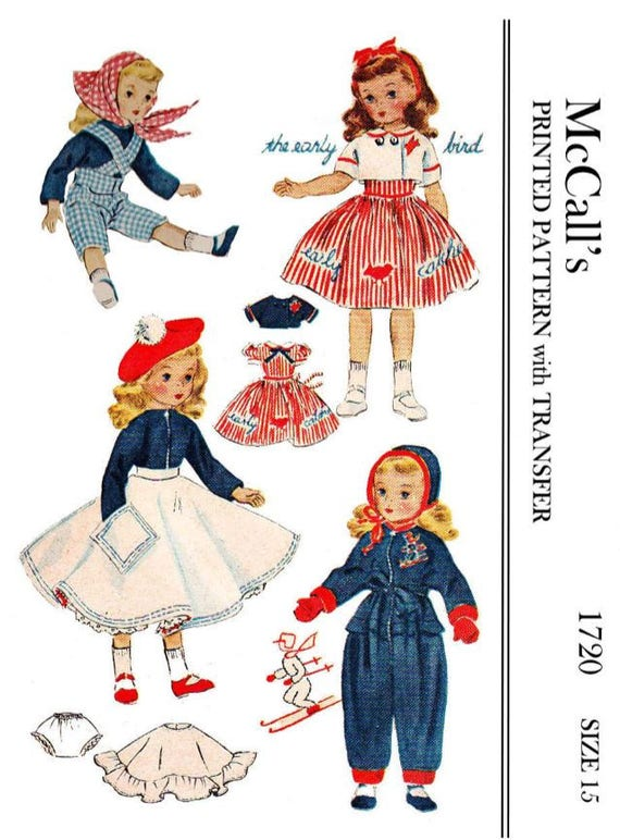 """Coat Doll Clothes Pattern ~ for 18/"""" 19/"""" Shirley Temple Patsy Vtg 40s Dress"""