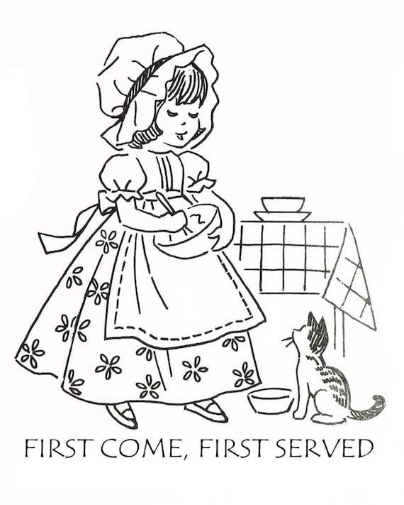 Vintage Laura Wheeler Pattern 2497 Hand Embroidery Kitchen Etsy