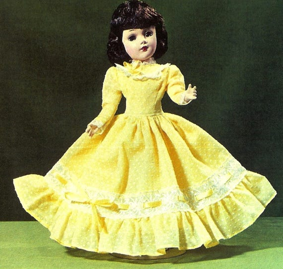 "Toni 15/"" Sweet Sue Vtg 50s Doll Clothes Pattern Dress Parasol ~ 14/"" Mary Hoyer"