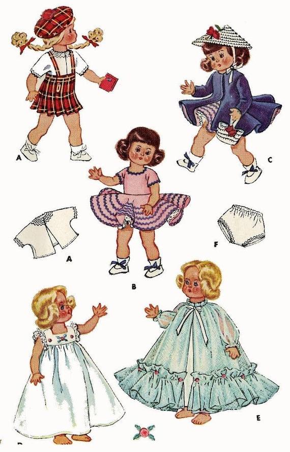 Vintage Doll Dress HUGE WARDROBE Pattern ~ Ginny Muffie Wendy Marcie