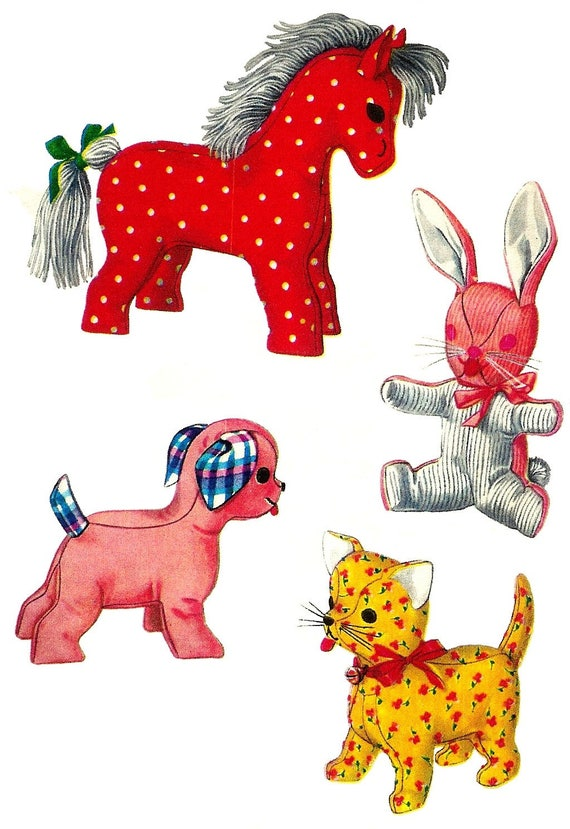 Stuffed Animal Pattern PDF Pattern Digital Download Vintage | Etsy