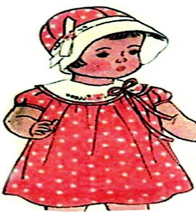 """Compostion Vintage Shirley Temple Doll Clothes Dress Pattern ~ 13/"""" 14/"""" Patsy"""