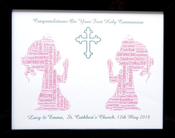 First Holy Communion or Confirmation photo frame choice design boy girl unisex