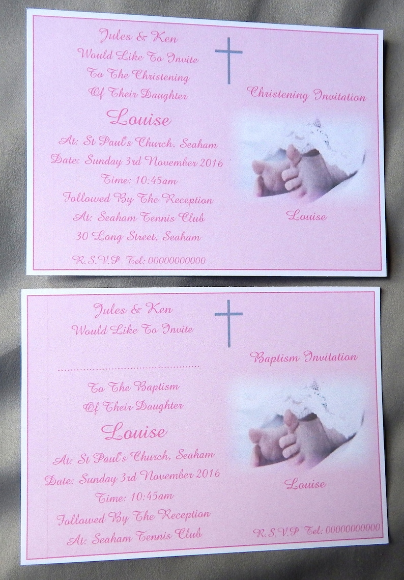 ** 5 PERSONALISED CHRISTENING ENVELOPES ** TWINS INVITES