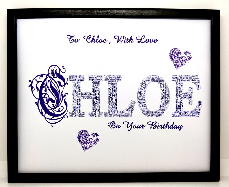 PRINT will fit a 8x10 Frame Word Art Christmas Unique Gift /& Keepsake First Name Birthday or General Gift New Personalised /'Name/'