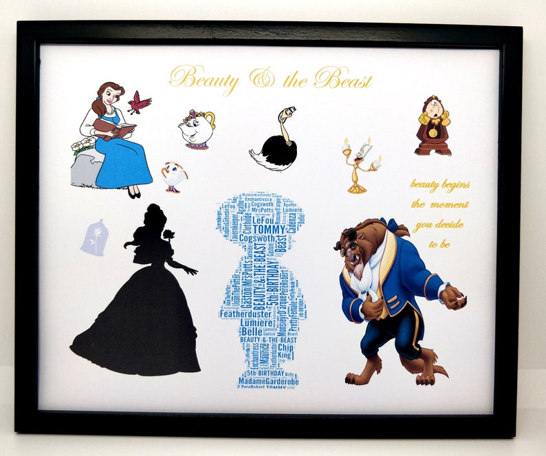 PDF ONLY /'Alice In Wonderland/' Word Art Gift Mary Poppins/' /'Beauty and the Beast/' Unique Gift, New Personalised Boy or Girl /'Dumbo/'