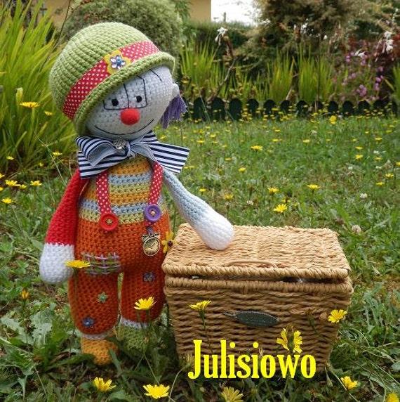 Häkeln Sie Muster Puppe Clown Luis. PDF-Muster | Etsy