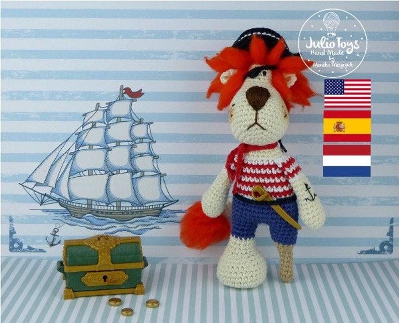 Pirate Lion  crochet pattern image 0