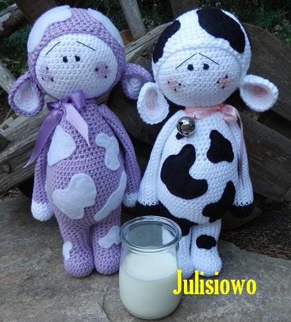 Muu und Lilka. Puppen häkeln Muster PDF. Häkeln vaquita | Etsy