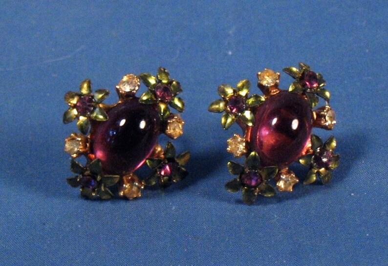 Set of Two Pairs Vintage Screw on Earrings