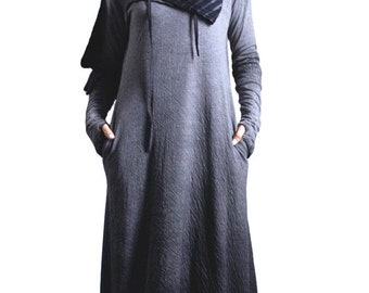 3196c493f5 Medieval dress Gothic dress Pagan clothing Hooded dress Winter cloak hooded  scarf hooded cloak viking tunic