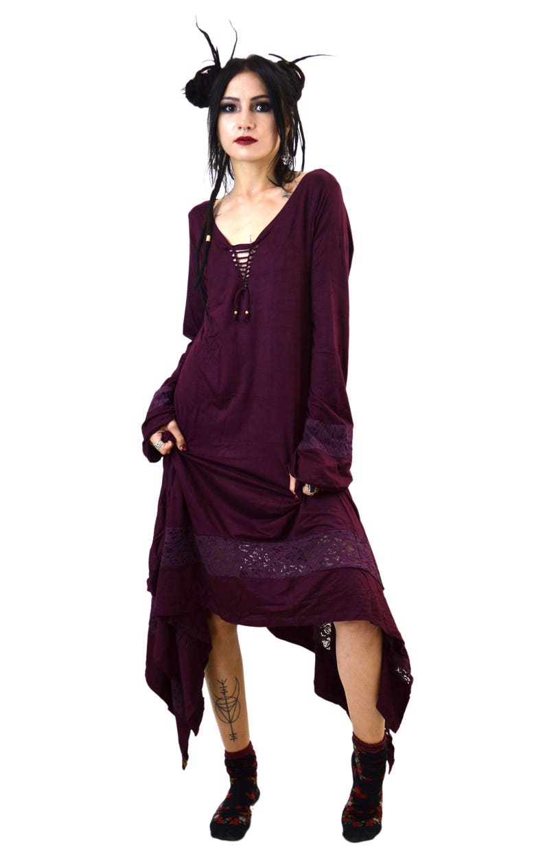 ebdf7844c9 Kurta gothic dress pagan clothing medieval dress steampunk