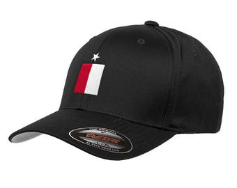 57efea354f1 Texas State Flag Flexfit Premium Classic Yupoong Wooly Combed Hat 6277