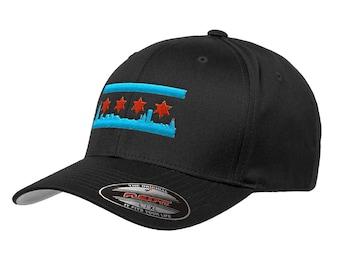 Chicago Skyline Flag Hat a5d9c3e97b