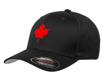 93f507adf0cd7 Canada Maple Leaf Flag Hat Flexfit Premium Classic Yupoong Wooly Combed  Canadian Hat 6277