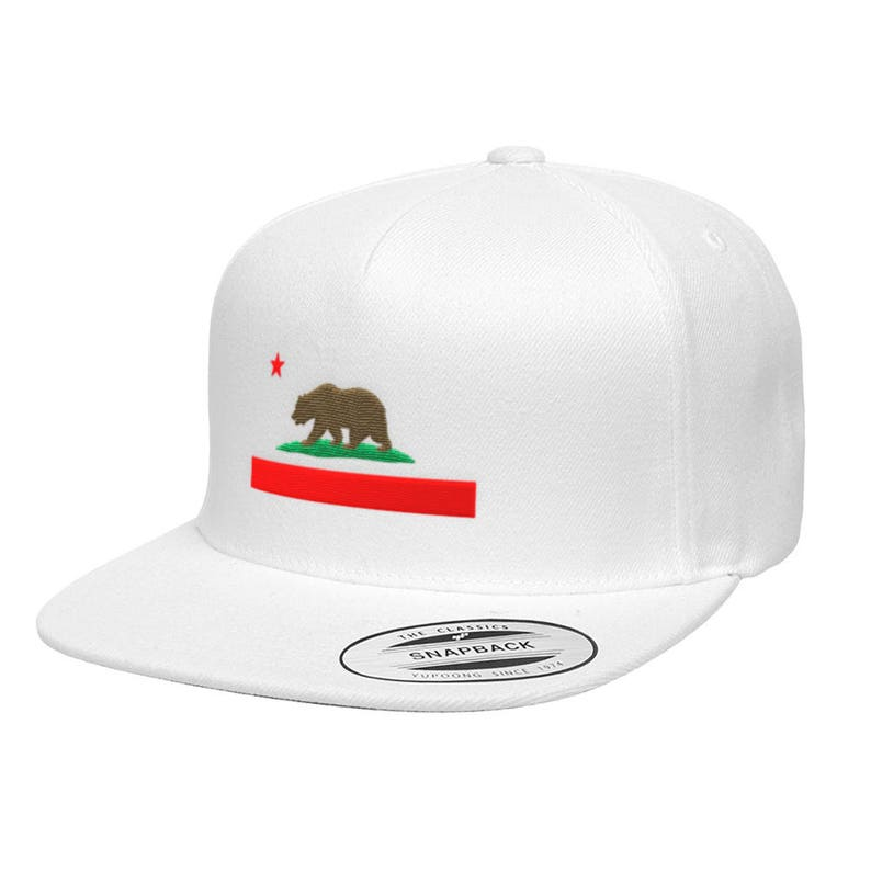 536ad9a88b53d0 California State Flag Premium Classic Snapback Hat Republic | Etsy