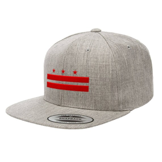 5bae5cdf27dd9c Washington D.C. Flag Premium Classic Snapback Hat 6089M | Etsy