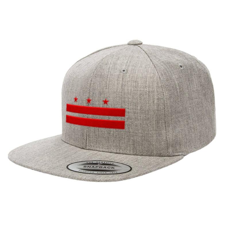 Washington D.C. Flag Premium Classic Snapback Hat 6089M  182372dc043c