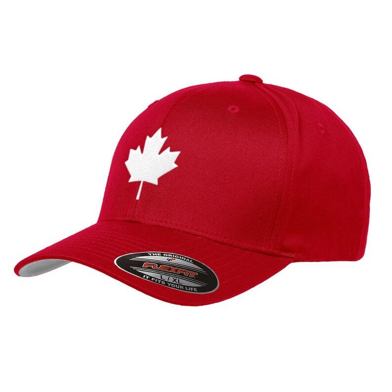 dda0c1cc9f3 Canada Maple Leaf Flag Hat Flexfit Premium Classic Yupoong